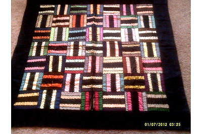 Antique Rail Fence Quilt  -- 44 by 43 inches