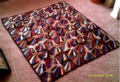 Antique Fan Quilt  -- 59 by 52 inches