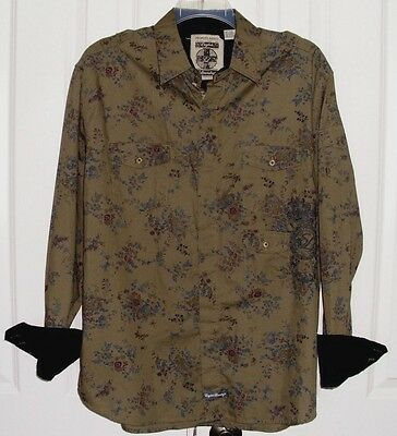 ENGLISH LAUNDRY PEOPLE'S ARMY MEN'S FLIP CUFF SHIRT by CHRISTOPHER WICKS SZ 2XL
