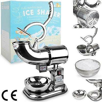 WYZworks Commercial Heavy Duty 440lb/h Sno Snow Cone Ice Shaver Shaved Icee New