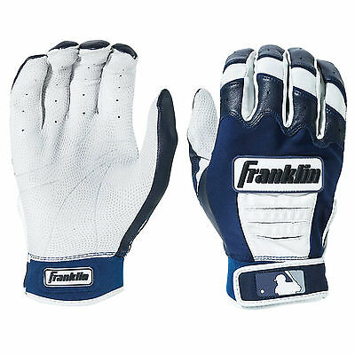 Franklin CFX Pro Adult Baseball/Softball Batting Gloves - Pearl/Navy - Large
