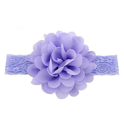 Kids Girl Baby Headband Toddler Lace Bow Flower Hair Band Accessories HeadwearS~