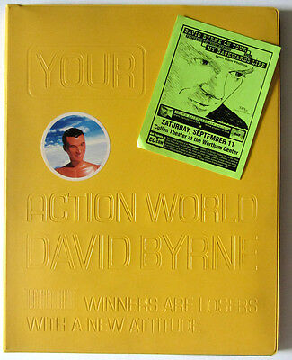 David Byrne 1999 Autographed Deluxe Your Action World Book! Talking Heads Signed