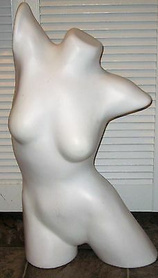 30 Inch Female Woman Mannequin Torso White In Very Good Shape