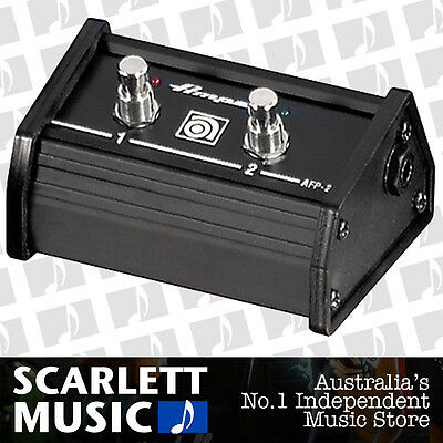 Ampeg AFP-2 Double Footswitch AFP2 w/12ft Cable + 3 Years Warranty *BRAND NEW*
