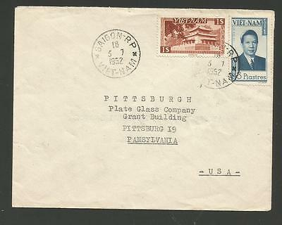 1952 South Vietnam Commercial Cover To Usa