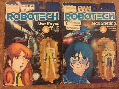 ROBOTECH RETRO Anime Action Figures BOXED LISA HAYES & MAX STERLING Harmony Gold