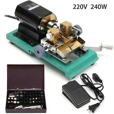 Wood Beads Pearl Drilling Holing Machine Driller Full Set Jewelry Tool 220V 240W