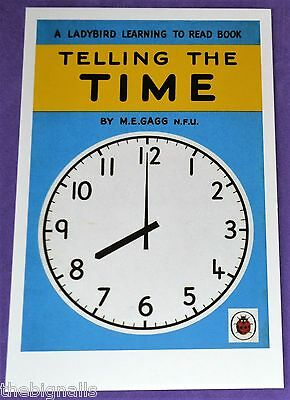 Ladybird Classic Book Cover TIME Postcard NEW