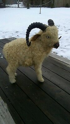 Vintage/old  Ram With Real Sheep Wool
