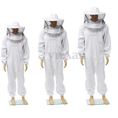 Beekeeping Veil Bee Keeping FULL BODY Suit with Removable Veil Hood Hat 3 Sizes