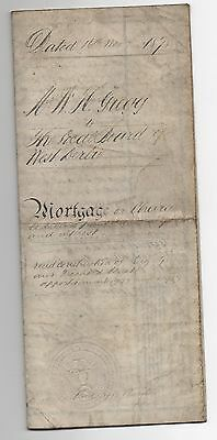1878 Mortgage - Watergate Square Chester - complete with seals