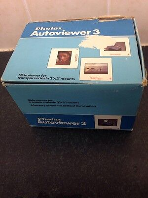 Photax AutoViewer 3 Slide Viewer (Boxed, Instructions) Requires A New Bulb