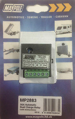 Caravan towing split charge relay charge additional leisure battery charging 12v