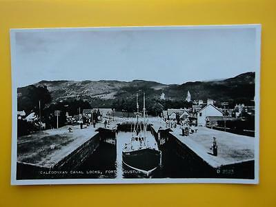 Caledonian Canal Locks FORT AUGUSTUS Inverness-shire RP 1958 Fishing Boat