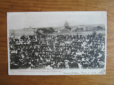 GWENNAP PIT REDRUTH (Old Coal Mine) Whit Monday Gathering POSTCARD 1903 Skeleton