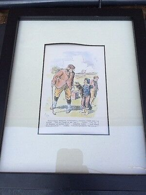 Framed GOLFER PRINT GOLFING Distinction Without Difference