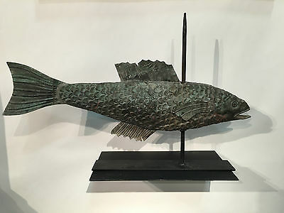 "Scarce 27 "" Long Antique COD Copper Weathervane.  Great Surface!"