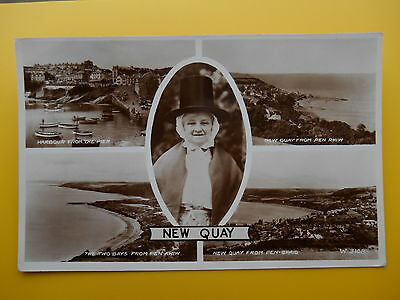 Multiview NEW QUAY Cardiganshire RP 1958 Welsh Lady Harbour Bays Beaches
