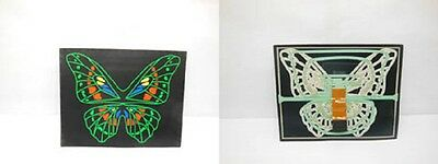 1X Butterfly Light Up Flashing LED Glow Equalizer