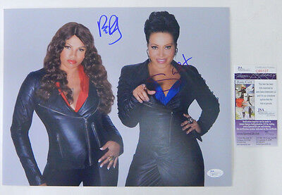 Salt n Pepa Signed 11 x 14 Color Photo Pose #1 2 JSA Autos