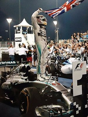 Lewis Hamilton - British Formula 1 Racing Driver - Excellent Signed Colour Photo