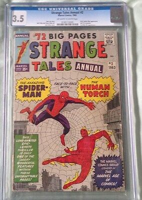 Strange Tales Annual #2--CGC #3.5--First Spider-Man crossover!