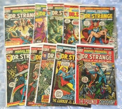 Marvel Premiere-Dr. Strange Lot 2--10 issues from 4-14