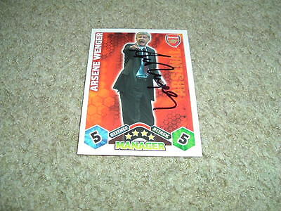 Arsene Wenger - Arsenal - Signed 09/10 Match Attax Trade Card