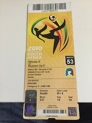 Holland V Slovakia World Cup Finals Ticket 2010 Match 53 Unused