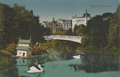 Post Card - Riga / Der Stadtkanal