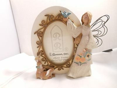 Roman Angel Picture Frame 3.5 x 5 Photos Rabbits & Bird