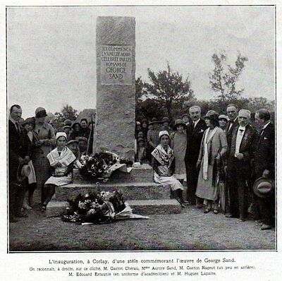 1926  --  Inauguration A Corlay D Une Stele A George Sand    3L340