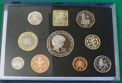 1999 9-Coin Royal Mint Proof Year Set Includes Commemoratives