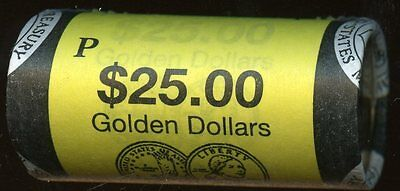 United States Official Mint $25 Roll Of 2002P  Sacagawea Uncirculated Dollars