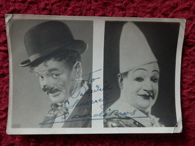 1940's Clowns Including Charlie Cairoli Autographed Photos