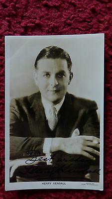 Edwardian Actor Henry Kendall Autographed Postcard