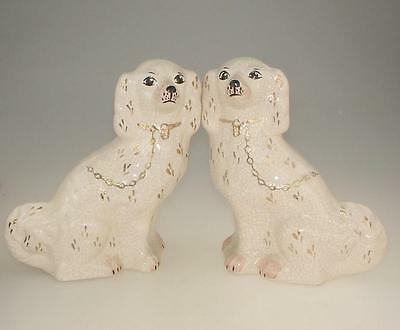 Pair of Vintage Fireside Staffordshire Dogs