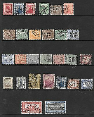 Egypt Stamps  Early  Asst  Used  (28)