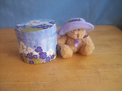 Avon Hat Box Teddy NEW IN PACKAGE