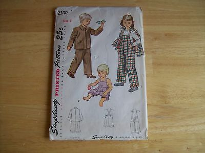 Vintage Simplicity 2300 Child's Overall And Jacket
