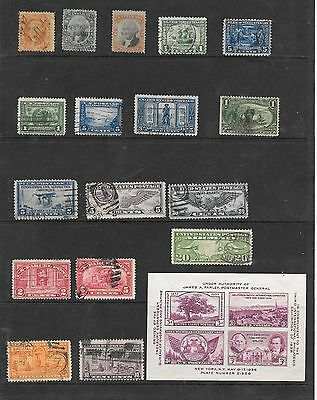 (18)U.s.a Stamps Early  Gap Fillers  Used