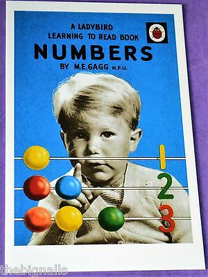 Ladybird Classic Book Cover NUMBERS Postcard NEW
