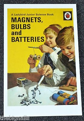 Ladybird Book Cover Postcard MAGNETS, BULBS and BATTERIES new
