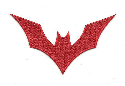 DC Comics Batman Beyond Animated Show Red Bat Logo Embroidered Patch NEW UNUSED