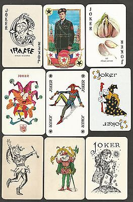 -Playing Cards- Jeux De Cartes- 9 Singles-Jokers  Differents.