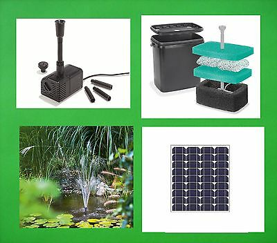 40 Watt Solar Pond Pump Filter Garden Submersible Water Element Neu