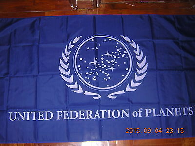 Flag of the United Federation of Planets Star Trek France French Paris Ensign
