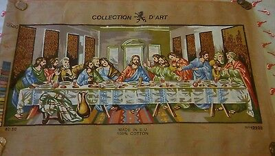 Collection D'art Tapestry Canvas 12228 The Last Supper 81x51cm
