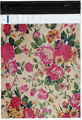 200 Bags 100 10x13 Roses, 100 10x13 Cute Rabbits Designer Poly Mailers